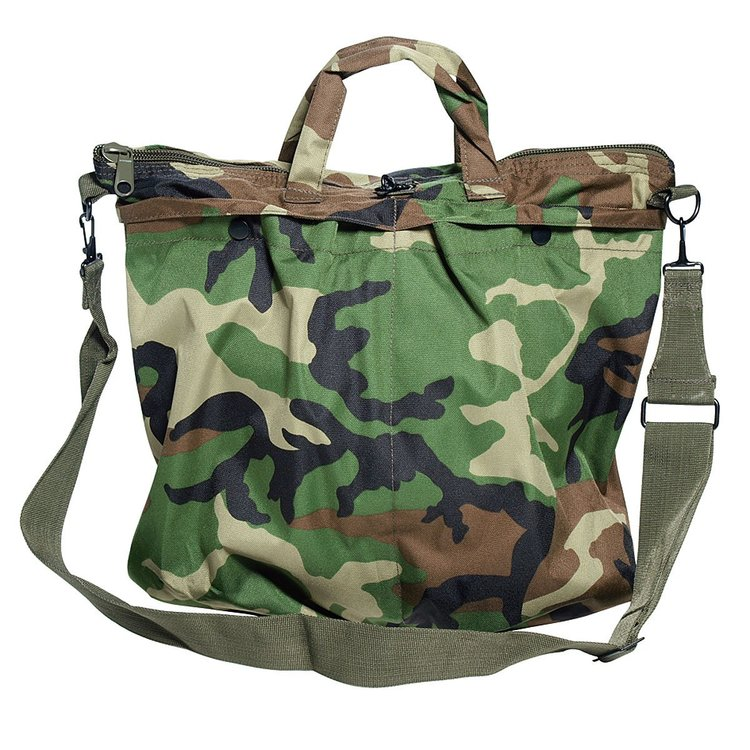 US Pilot helmet bag camo