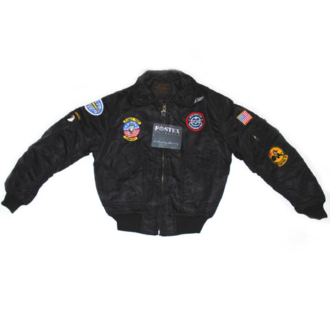 Bomber jack for kids black
