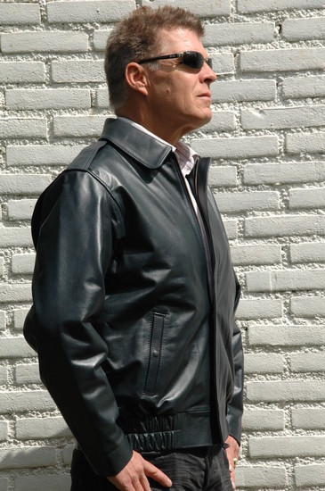 RAF flight jacket - finest blue calfskin leather
