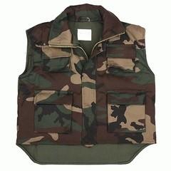 Child Military bodywarmer Woodland