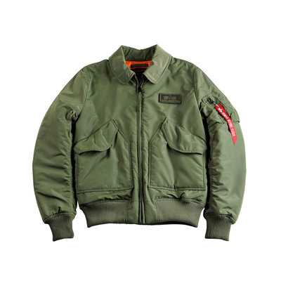 Alpha CWU VF TT flight jack (sage green) - men