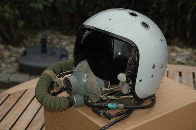 ZSh-7 fighter pilot helmet with KM-34 mask Mig-29 Fulcrum fighter pilot Russian Air Force