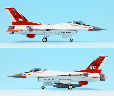 HobbyMaster Diecast F-16C Fighting Falcon 86-0371 445 FLTS Edwards AFB Air Power Series