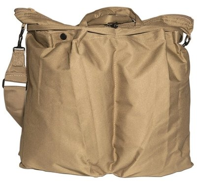 Coyote US flyer helmet bag with strap