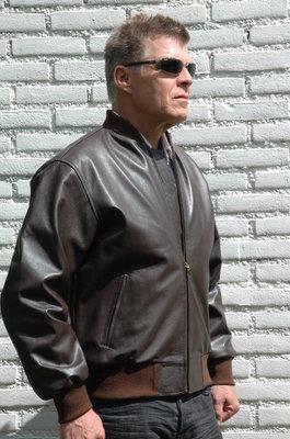 leather MA-1 flight jacket handmade