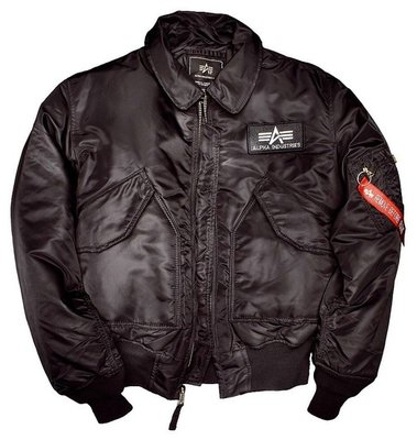 Alpha CWU 45 flight jacket - black color - men