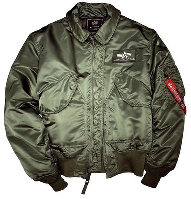 Alpha CWU 45 flight jacket - green color - men