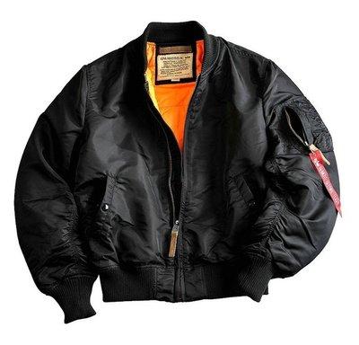 Alpha MA-1 VF 59 flight jacket - black color - men -all season