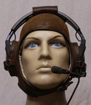 Headset flying helmet - Shearling (wool)