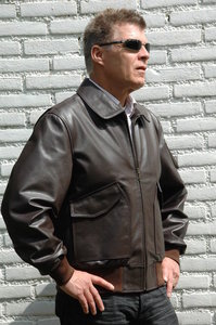 leather CWU-45P flight jacket - handmade