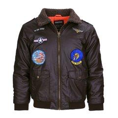 Kids flight jacket PU leder