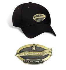 Luxury caps with metal emblem