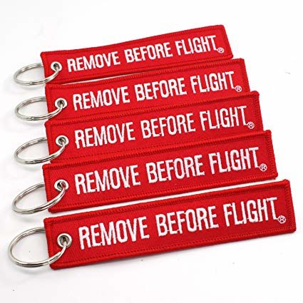Cloth REMOVE BEFORE FLIGHT KEYRING