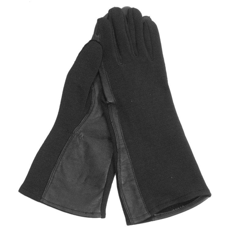 Nomex pilot gloves black