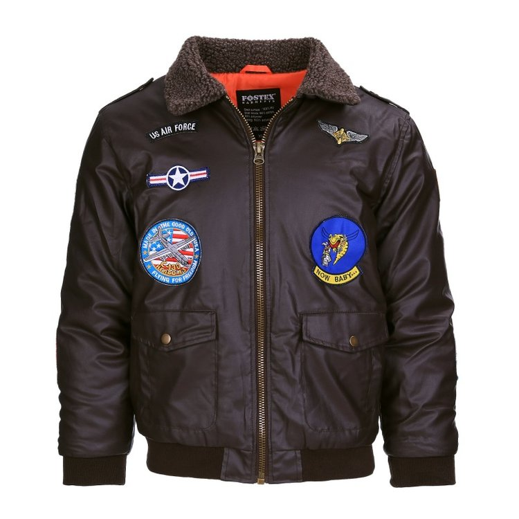 Kids Flight Jacket PU leather