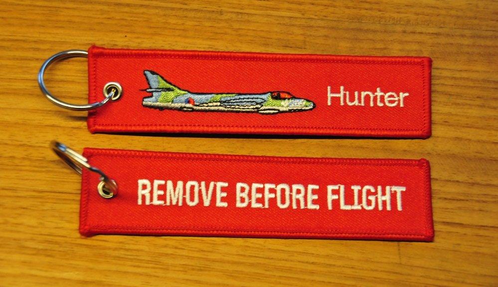 Hunter KLu keyring keychain bagagelabel Remove Before Flight