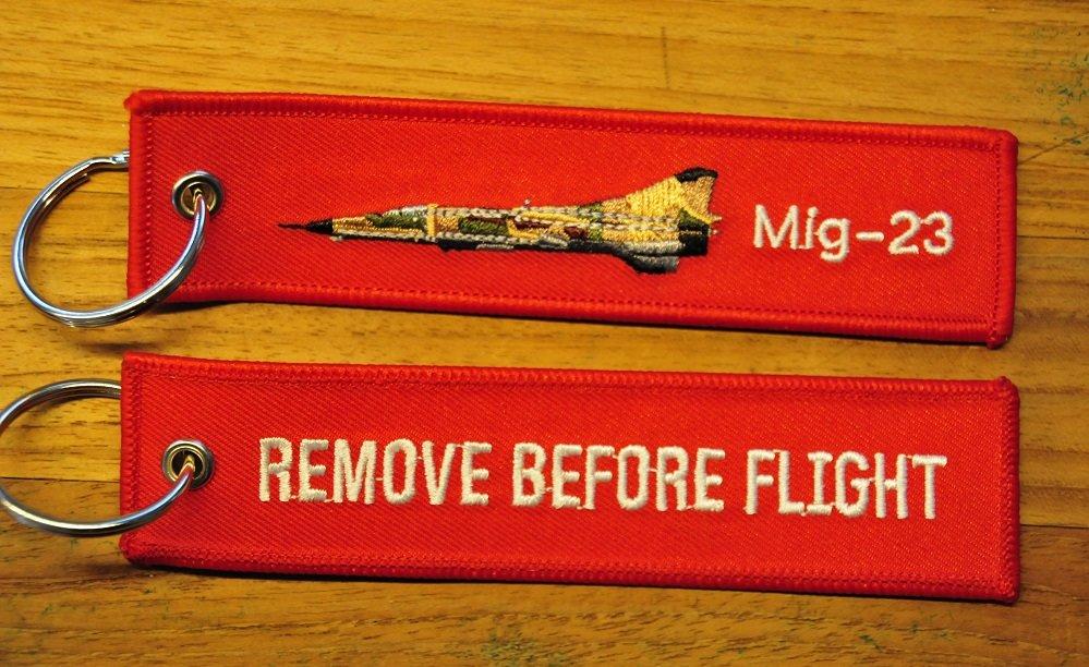 Mig-23 keyring keychain bagagelabel Remove Before Flight