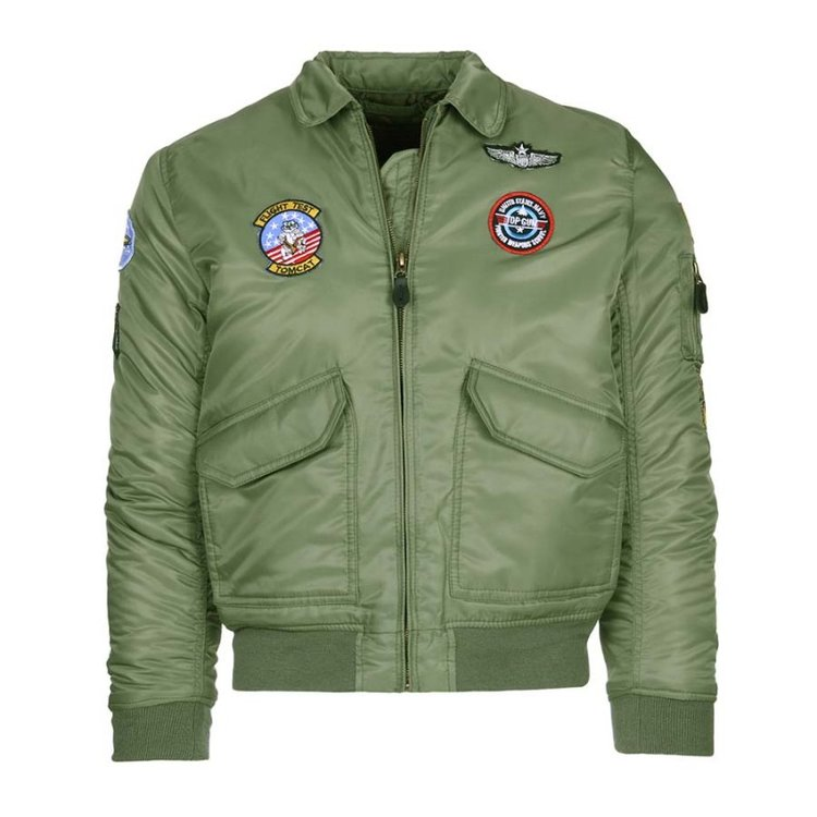 CWU flight jacket for kid Fostex Air Force green color