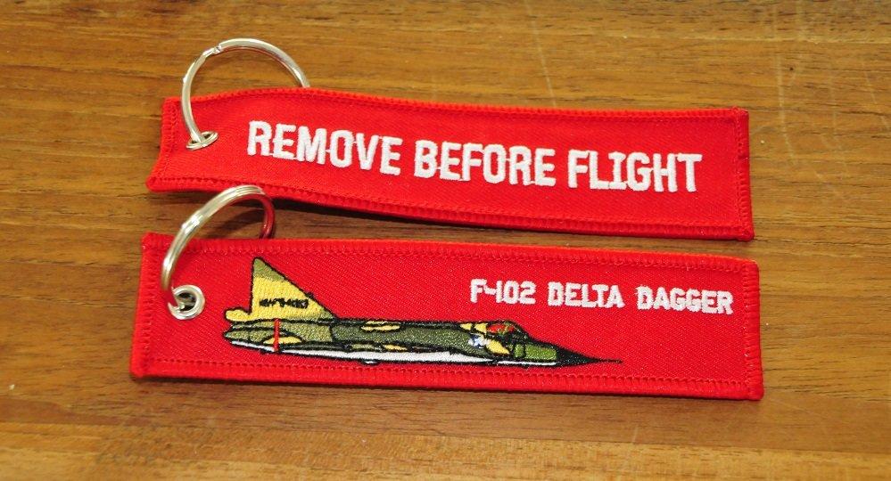 F-102 Delta Dagger keychain keyring
