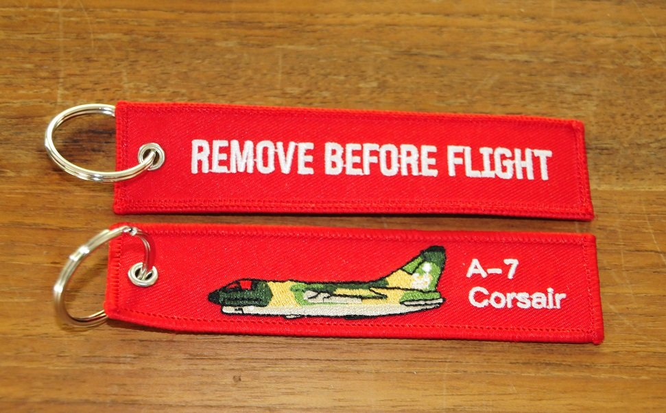 A-7 Corsair keychain keyring