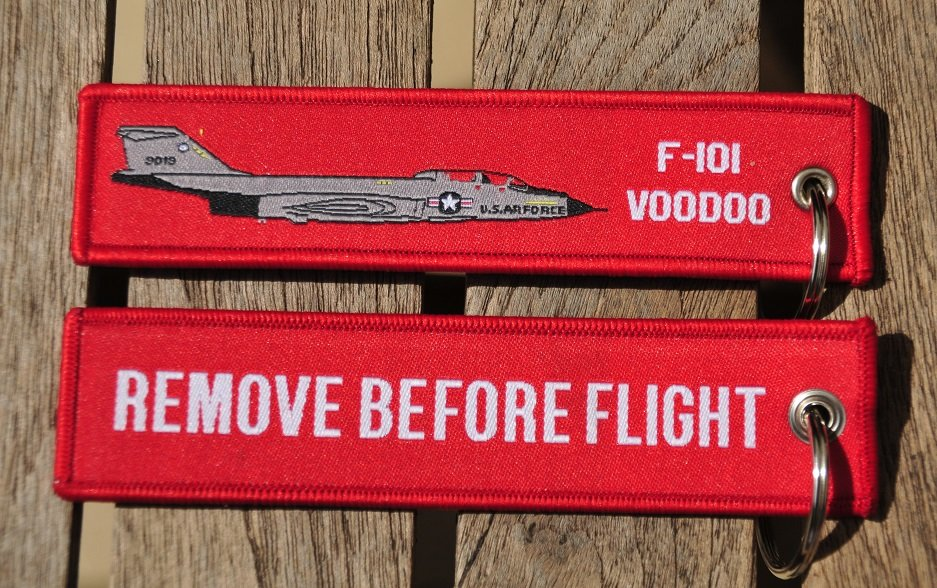 F-101 Voodoo keyring keychain bagage label