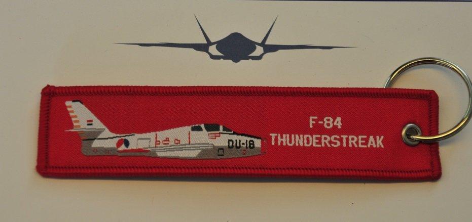 F-84 Thunderstreak keyring keychain bagage label