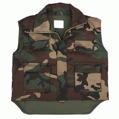 Child Military bodywarmer Woodland
