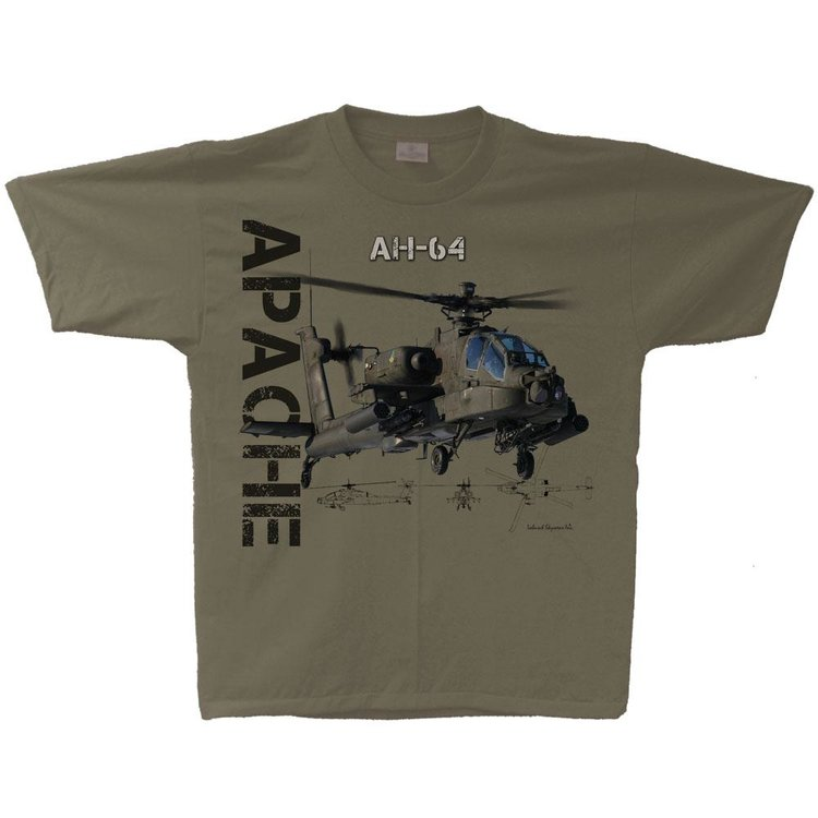 AH-64 Apache T-shirt  AH-64 Apache helicopter t shirt