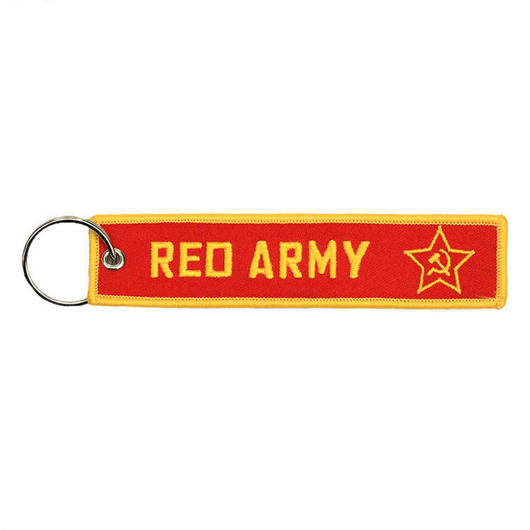 RED ARMY keyring keychain embroidered