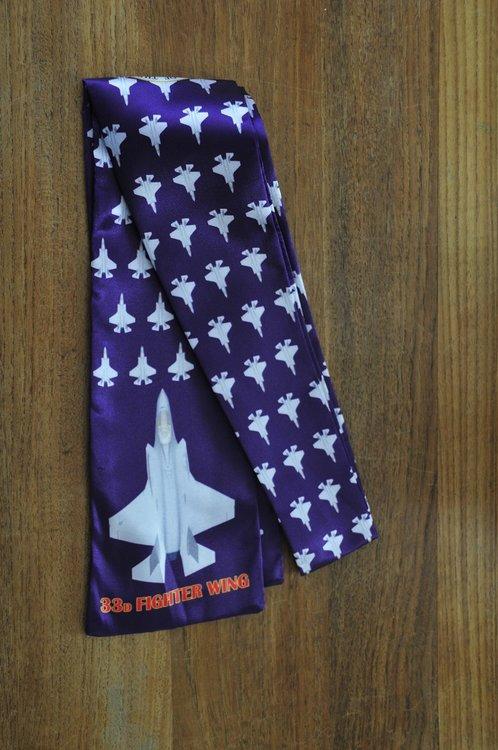 33d Fighter Wing pilot scarf F-35 Lightning