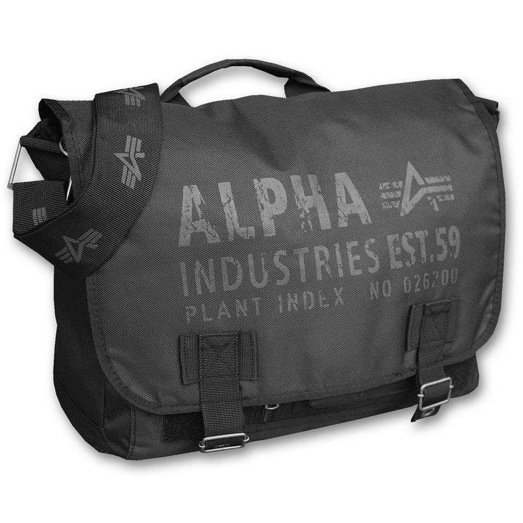 Alpha Industries Cargo Oxford Courier Bag - black
