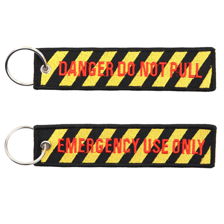 keyring Emergency Use Only Danger Do Not Pull Key Chain