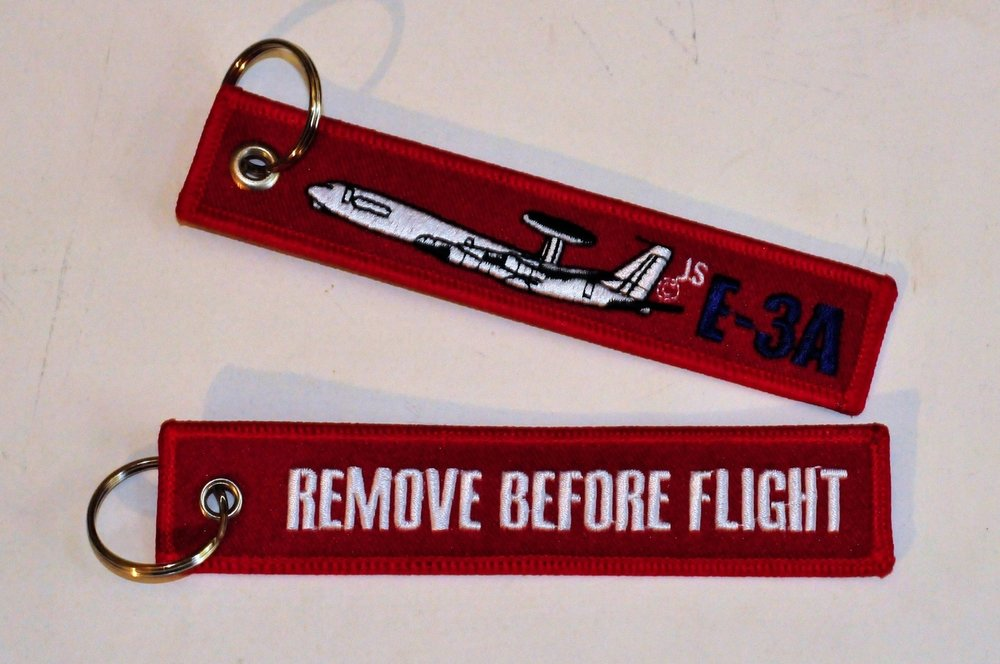 keyring E-3A Awacs Follow Me embroided Key Chain