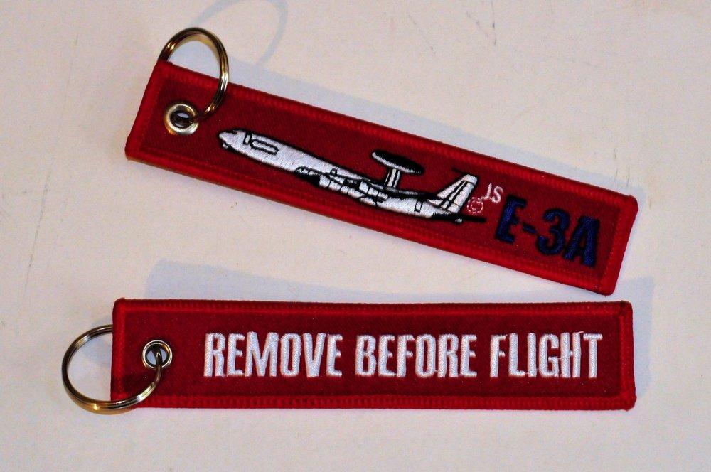 keyring E-3A Awacs Follow Me embroided Key Chain