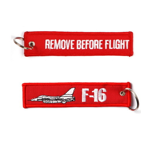 F-16 keychain Remove before Flight