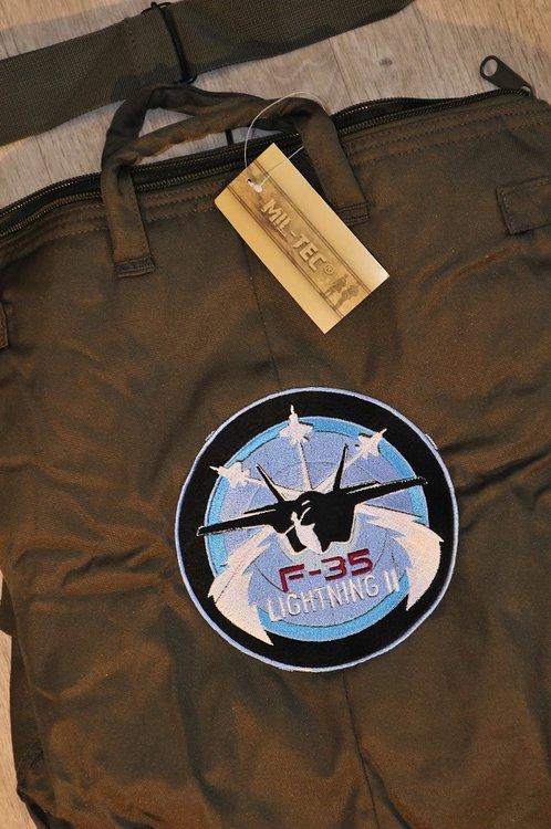 US pilot helmet bag oliv green F-35 Lightning II