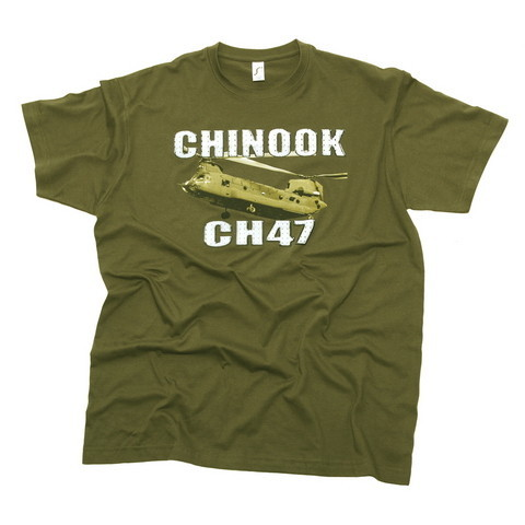 CH-47 Chinook T-Shirt SALE PRICES (50% DISCOUNT) green or black