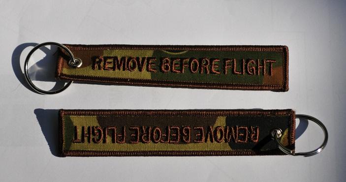 Remove before flight keychain (Camo color)