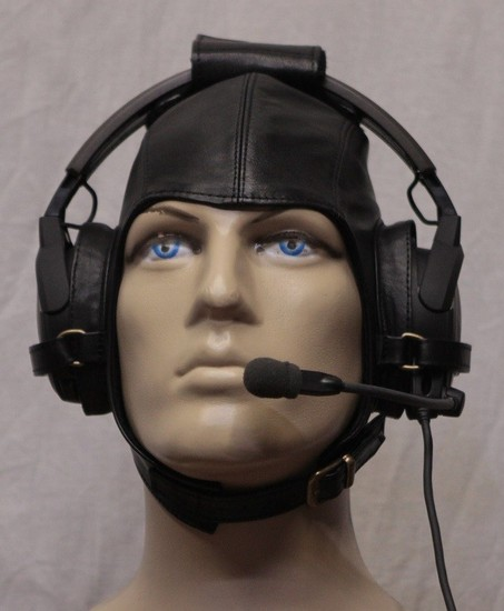 Headset flying helmet - Leather (calfskin)