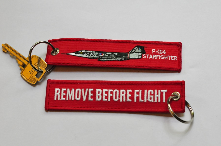 F-104 Starfighter keychain Remove Before Flight