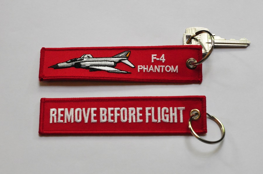 F-4 Phantom keychain keyring Remove Before Flight