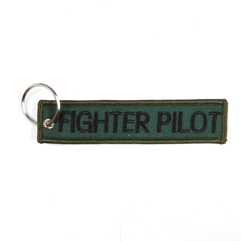 Fighter Pilot Keychain Keyring Embroidered