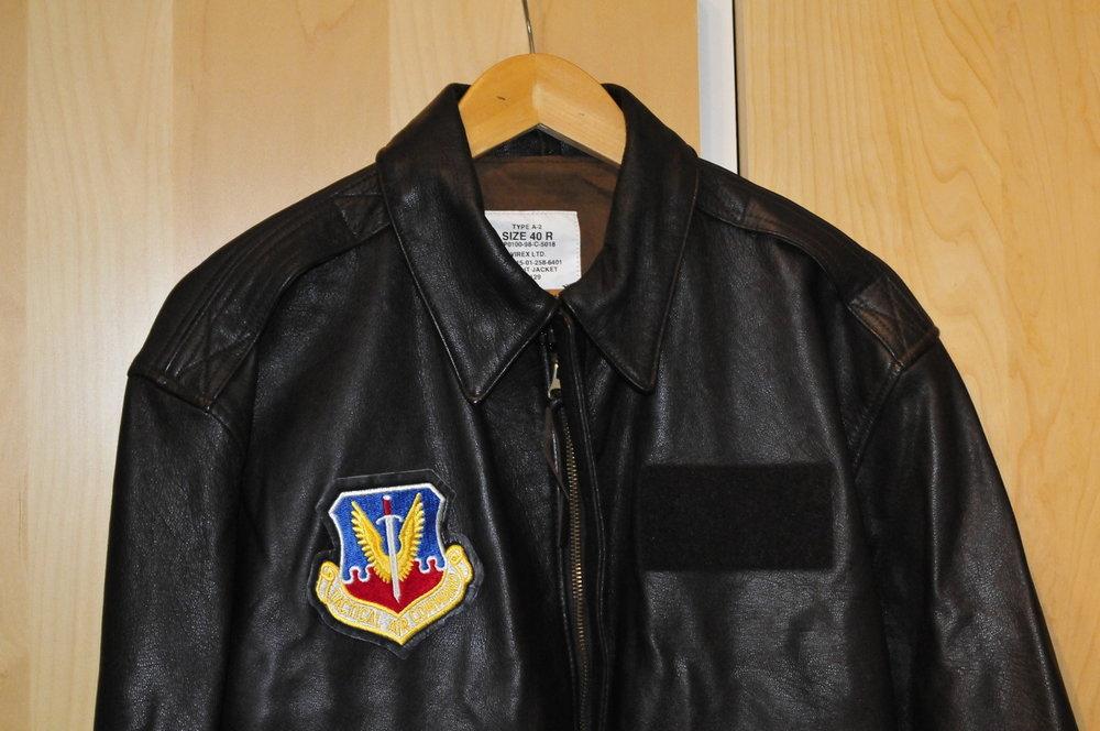 leather A-2 flight jacket original USAF size 42R