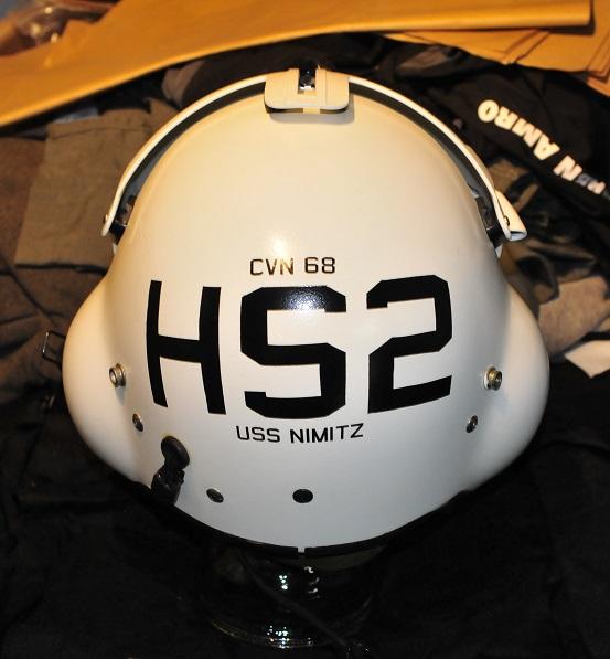 Gentex SPH-4 helicopter flight helmet with CVN68 HS2 USS Nimitz painting