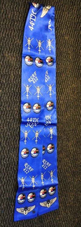 412 Squadron Royal Saudi AF pilot scarf Blue Bell 412 helicopter