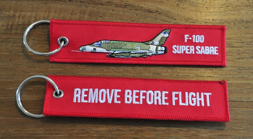 F-100 Super Sabre camo keyring keychain