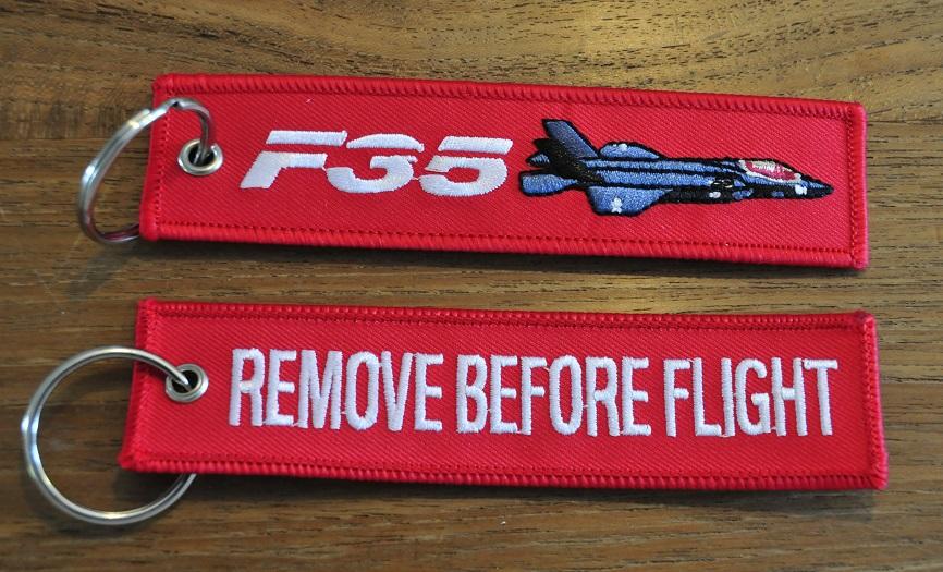 F-35 Lightning keyring keychain