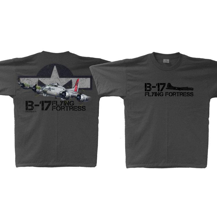 B-17 Flying Fortress T-Shirt Adult Skywear line B-17 shirt
