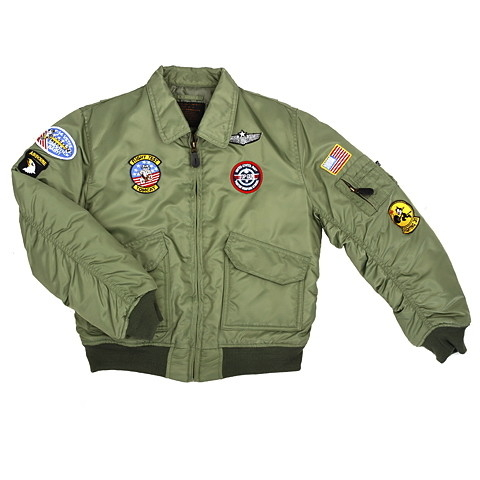 Child CWU flight jackets USAF green