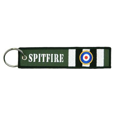 Spitfire RAF keychain keyring bagagelabel